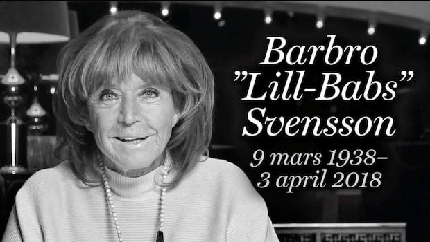 Vänner och fans tog farväl av Lill-Babs