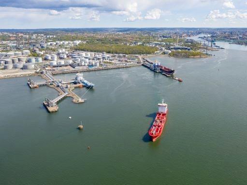 Göteborgs hamns energihamn.