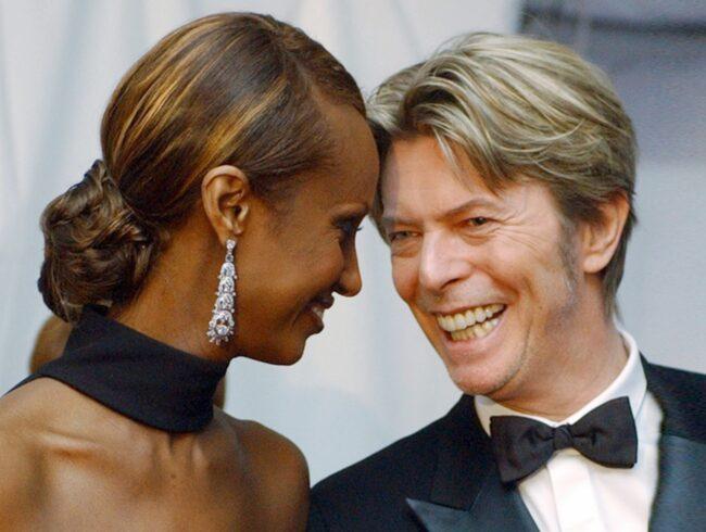 <span>David Bowie dog 10 januari i år. Här med hustrun Iman Abdulmajid.</span>