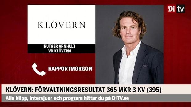 """Rutger Arnhult vd Klövern: """"Vi har stabila hyresgäster igen"""""""