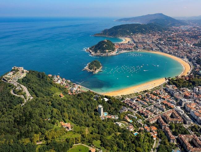 San Sebastián bjuder på två fina stränder, La Concha och surfstranden Zurriola.