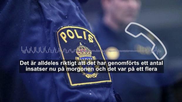 Polisen gjorde tillslag på flera adresser i Västsverige
