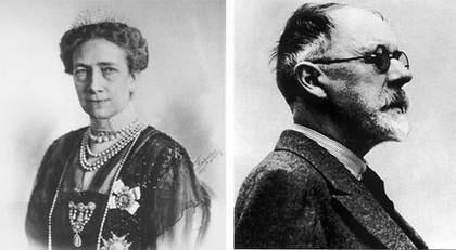 Kärlekspar. Förhållandet mellan Gustav V:s hustru, drottning Victoria, och kungaparets livmedikus, Axel Munthe pågick under flera decennier.