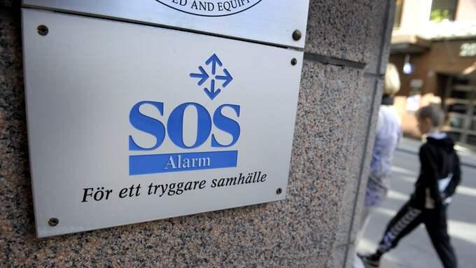 """SOS Alarm, som har ansvaret för 112, skriver att attacken """"framkallat fara för människors liv eller för egendom genom att störa larmnumret"""". Foto: JANERIK HENRIKSSON / TT / TT NYHETSBYRÅN"""