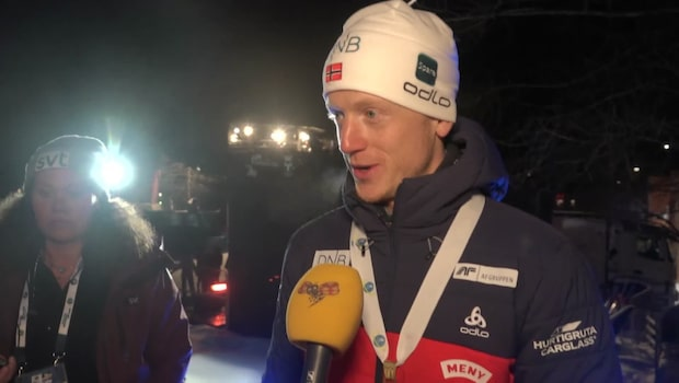 "Johannes Thingnes Bö: ""Det var en lagseger"""