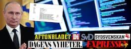 USA: Ryssland låg bakom attacken mot svenska medier