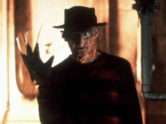 """Freddy Krueger i mardrömsfilmen """"Terror på Elm Street"""". Foto: Warner"""