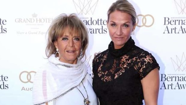 Lill-Babs duster med dottern Kristin Kaspersen