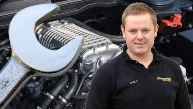 Mekonomens verkstadschef Jonas Carlsson är ALLT OM BILARS mekanikerexpert.