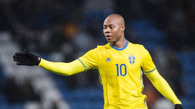 Carlos Strandberg gjorde två av Sveriges mål i 3–0-segern mot Malta i kvalet till U21-EM. Foto: PETTER ARVIDSON / BILDBYRÅN
