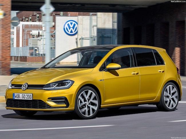 På säljlistans andraplats – inte helt ovanligt – Volkswagen Golf.