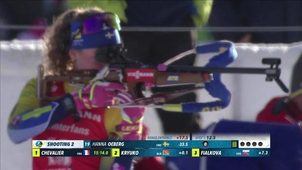 Hanna Öberg sköt bort sig igen