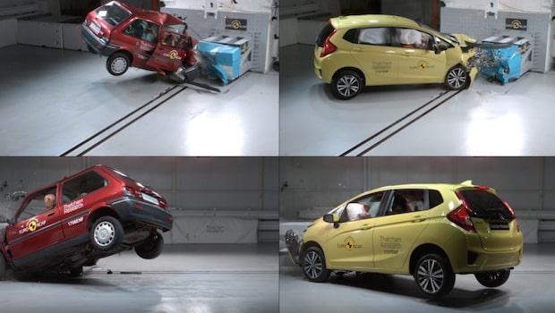 Så farlig är din gamla bil - se skrämmande testerna