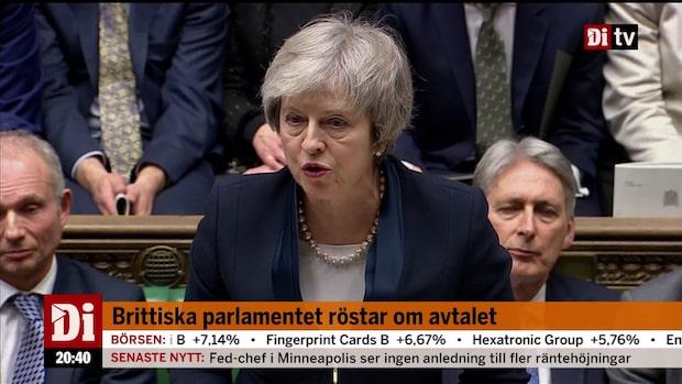"""Brexitavtalet röstades ned: """"Huset har talat och regeringen kommer lyssna"""""""