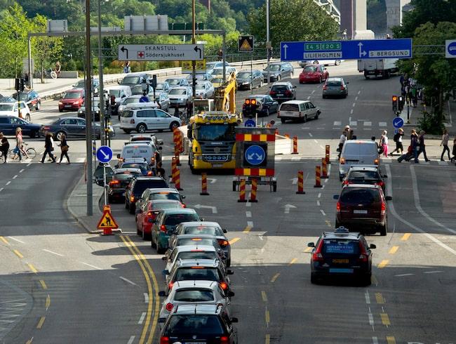 Mycket trafik i Stockholm, men ändå läsarnas favoritstad att köra i.