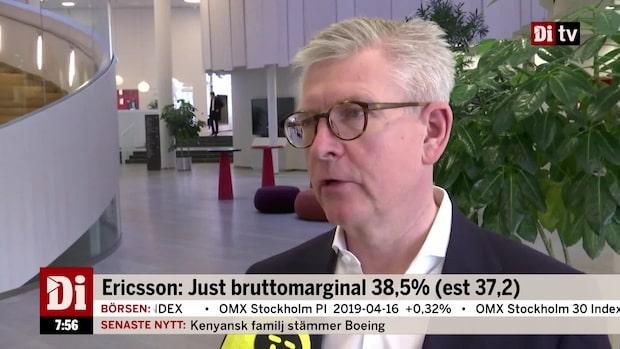 """Ericssons vd: """"Vi är inte nöjda var vi är men vi är glada över det vi åstadkommit"""""""