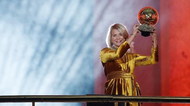 Ada Hegerberg historisk vinnare av Ballon d'Or