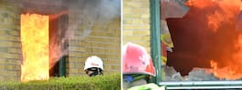 Villa rasade samman efter våldsam brand