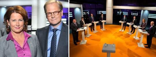 Anna Hedenmo och Mats Knutson leder partiledarintervjun i kväll.