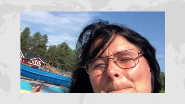 """Pia Emretsson i Jokkmokk: """"Vi badar hela tiden"""""""
