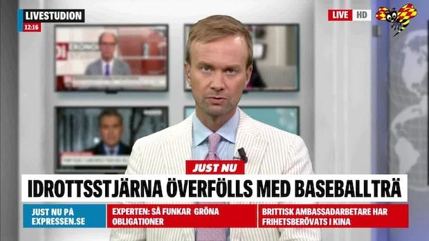 Svensk idrottsstjärna överfölls med basebollträ
