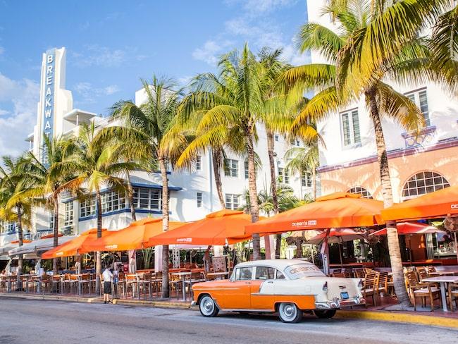 Ta en guidad tur längs Ocean Drive för att lära dig mer om Miamis klassiska art deco-byggnader.
