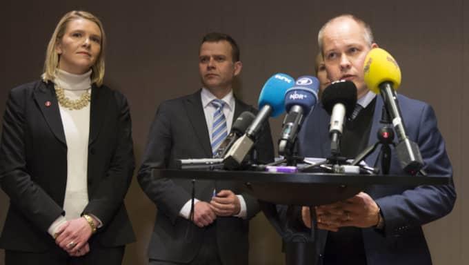 Migrationsminister Morgan Johansson höll pressträff tillsammans med sina nordiska kolleger på Arlanda. Foto: Henrik Montgomery / Tt
