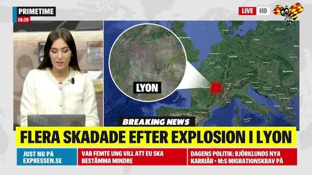 Flera skadade efter explosion i Frankrike