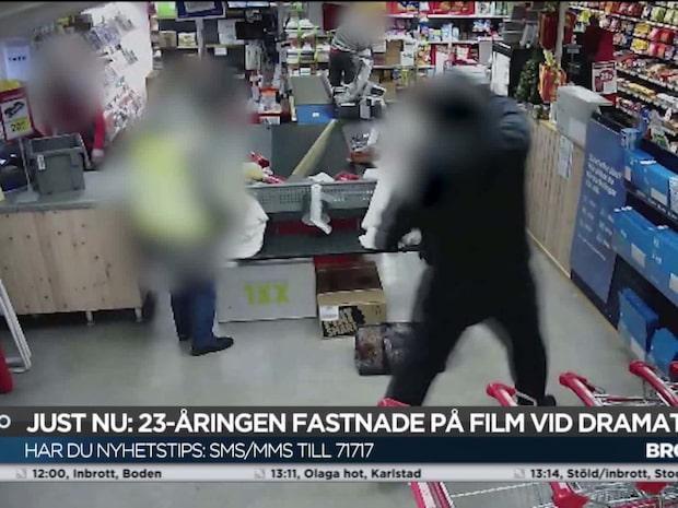 Här slår rånaren till med kökskniv mot Ica-butiken