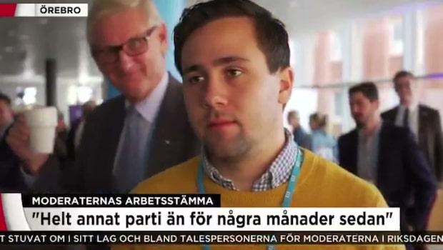 Här spexar Carl Bildt i TV4:s sändning