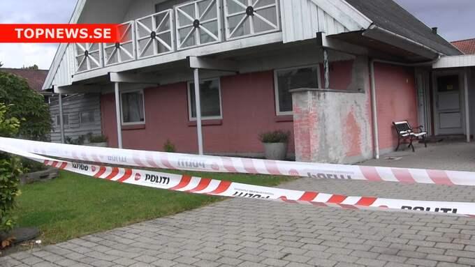 Polisen larmades till huset av barnets morfar. Foto: Topnews