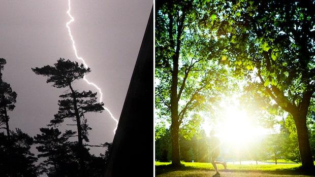 Luriga vädret: Åskskurar blandat med högsommarvärme