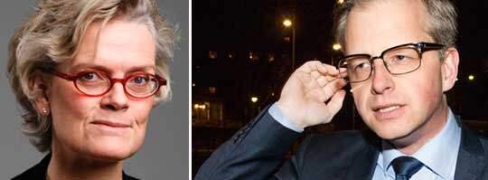 Carola Lemne, vd för Svenskt Näringsliv, och Mikael Damberg, S.