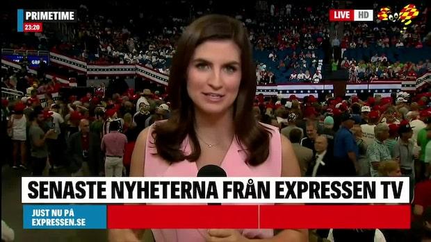 CNN:s reporter på plats vid Trumps kampanjmöte