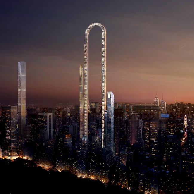 Planen är att byggnaden ska stå på 57:e gatan, strax nedanför Central Park.