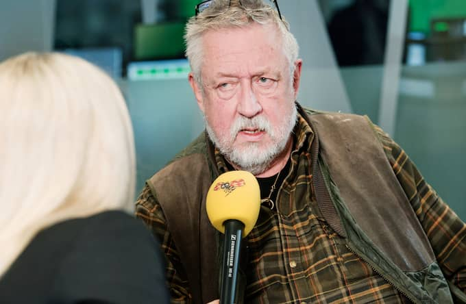 Leif GW Persson med Tess Ulander. Foto: OLLE SPORRONG