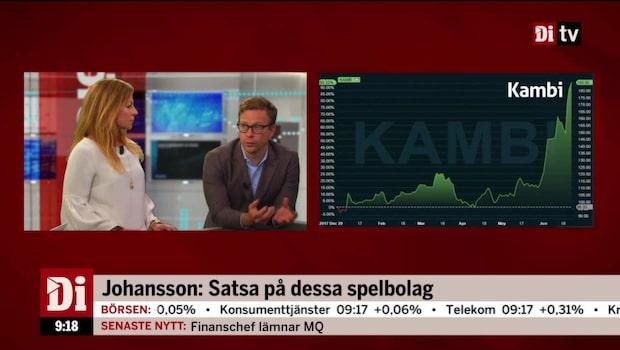 """Johansson: """"Satsa på det här spelbolaget"""""""