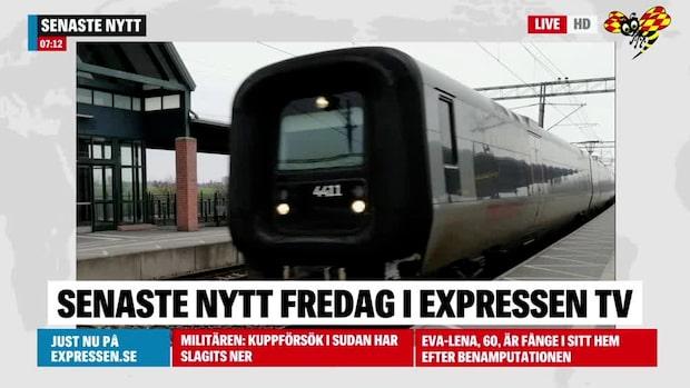 Tågstopp på Västkustbanan – 36 stationer påverkas