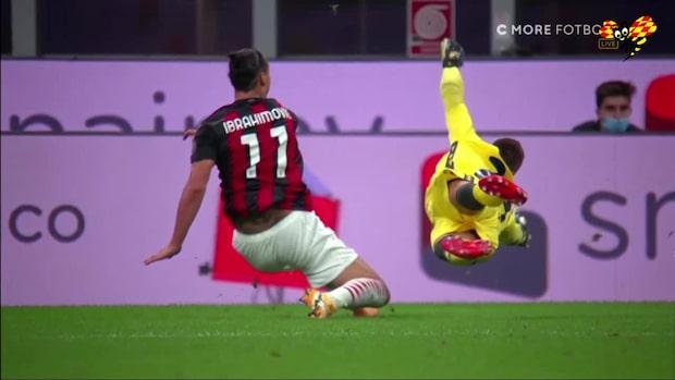 Zlatan försöker sig på hattrick – missar mål