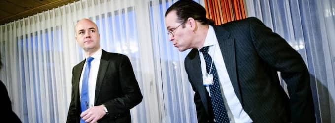 Fredrik Reinfeldt och Anders Borg. Foto: Jens L'Estrade