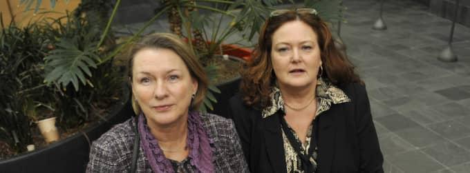 Advokaterna Melka Kjellberg och Lena Ebervall gillar inte Malmöhäktets nya stenhårda koll. Foto: Christer Wahlgren