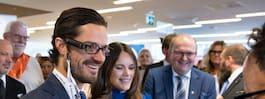 Prins Carl Philip och Sofia på  Dysleximässan: Stolt beskyddare