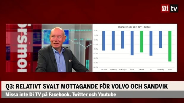 Q3: Relativt svalt mottagande för Volvo och Sandvik