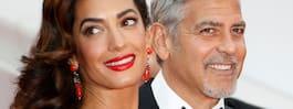 Amal och George Clooney  på hemligt besök i Sverige
