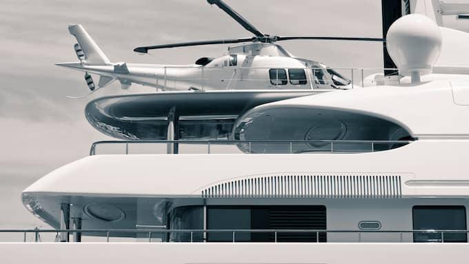 """Det finns plats för en helikopter på """"Natita"""". Bilden har ingenting med texten att göra. Foto: Jan Mika/Colourbox"""
