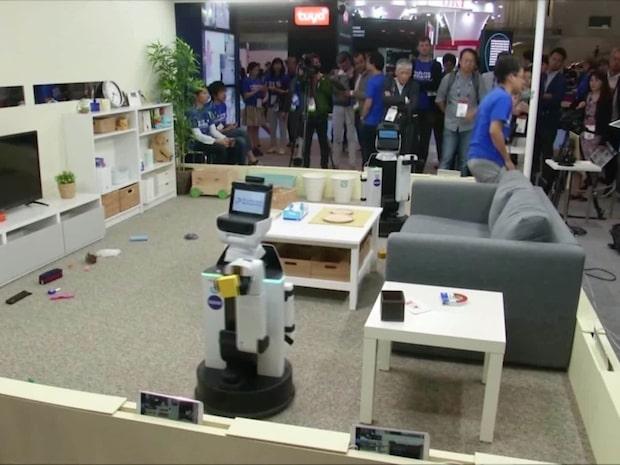 Roboten som plockar upp barnens leksaker
