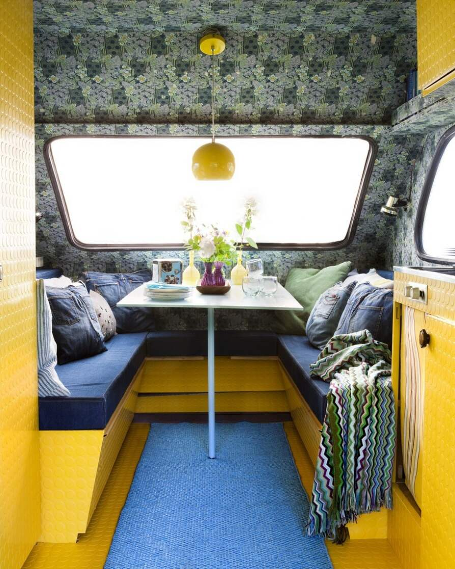 Sommarens bästa compact living i gult& blått Leva& bo