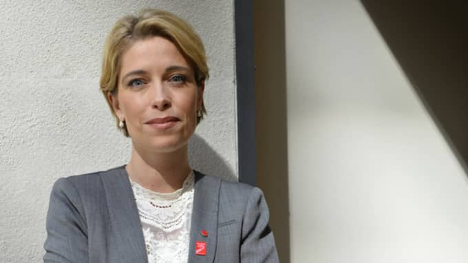 Annika Strandhäll, socialförsäkringsminister (S). Foto: Henrik Montgomery / Tt