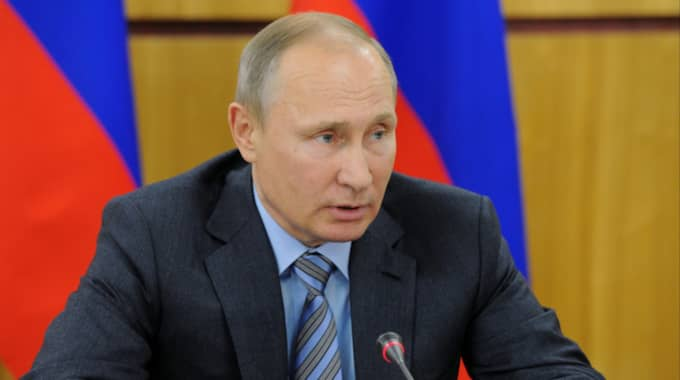 Ryska presidenten Vladimir Putin. SVT Nyheter rapporterade under tisdagen om misstäkt ryskt spionage i norra Sverige, som riktats mot enskilda soldater. Foto: Mikhail Klimentyev / AP TT NYHETSBYRÅN
