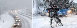 Då drar snön in – i hela landet